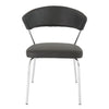Curved-Back Black Leatherette Guest or Conference Chair (Set of 4)