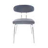 Oval-Backed Gray Leatherette Guest or Conference Chair (Set of 4)
