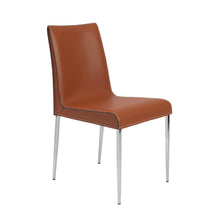 Load image into Gallery viewer, Premium Cognac Leather Conference or Guest Chairs with Steel Legs (Set of 2)