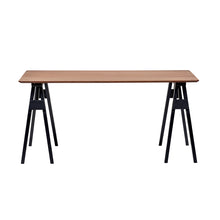 "Load image into Gallery viewer, 63"" Computer Desk with Solid Wood Sawhorse-Style Legs"