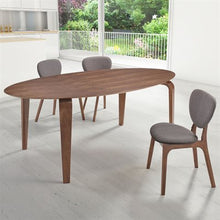 "Load image into Gallery viewer, Modern 79"" Walnut Desk or Conference Table with Oval Top"
