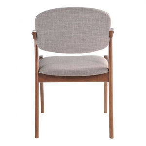 Rubberwood Guest or Conference Chairs in Dove Gray (Set of 2)