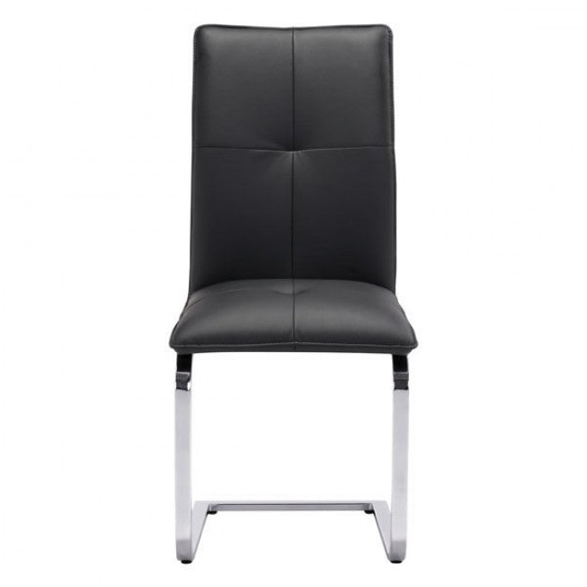 Classic Guest or Conference Chair in Black (Set of 2)