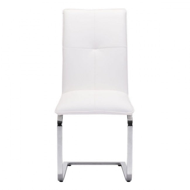 Classic Guest or Conference Chair in White (Set of 2)