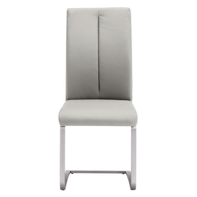 Taupe Stainless Steel and Leatherette Guest or Conference Chair (Set of 2)