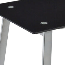 Load image into Gallery viewer, Unique V-Style Desk with Glass Top in Black