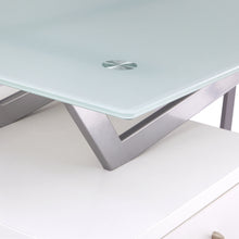 Load image into Gallery viewer, Unique V-Style Desk with Glass Top in White