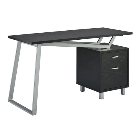 Unique V-Style Desk with Laminate Top in Black