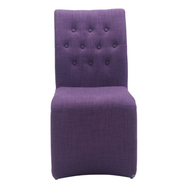 Cozy Purple Guest or Conference Chair w/ Full Upholstery (Set of 2)