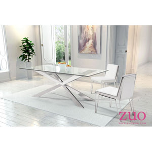 Set of 2 Guest or Conference Chairs in White Leatherette