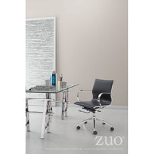 Load image into Gallery viewer, Black Low-Back Leatherette Rolling Office Chair