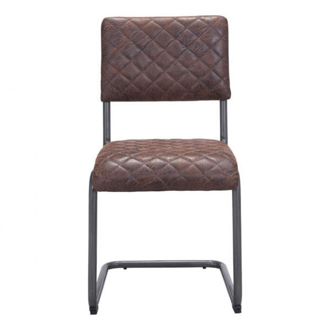Urban Brown Crisscross Guest or Conference Chair (Set of 2)