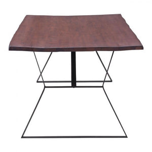 "80"" Executive Desk or Conference Table w/ Distressed Cherry Finish"