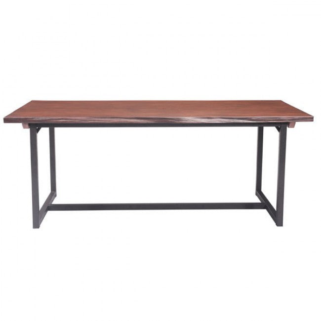 "78"" Black Metal and Cherry Finish Conference Table"