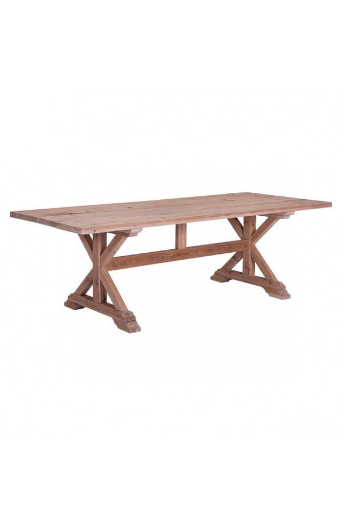"Natural Fir 95"" Contemporary Conference Table From Zuo"