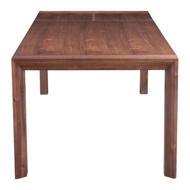 "75"" - 94"" Acacia Wood Extension Desk or Conference Table w/ Butterfly Leaf"