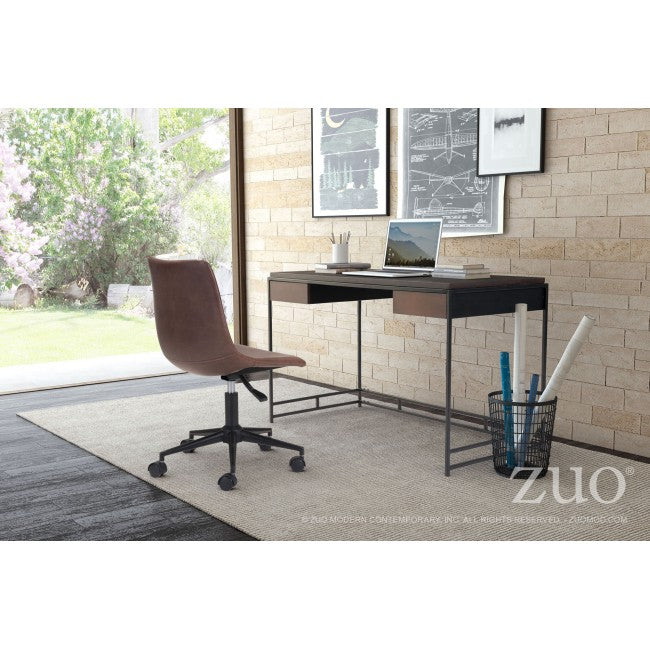 "48"" Stunning Small Black Wood Office Desk"