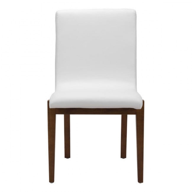 Cushioned Guest or Conference Chair in White Faux Leather (Set of 2)
