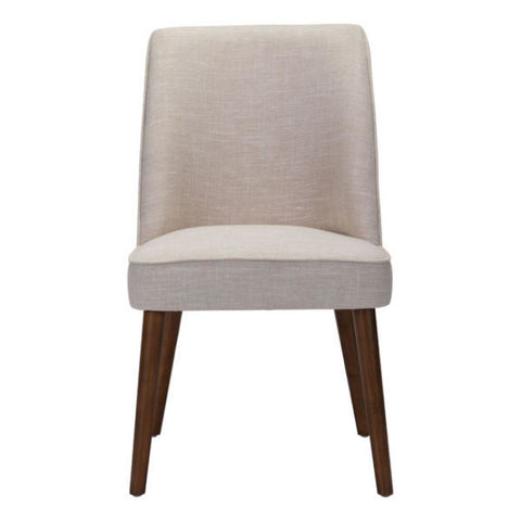 Stunning Beige Armless Guest or Conference Chair (Set of 2)