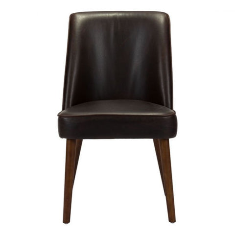 Stunning Brown Armless Guest or Conference Chair (Set of 2)