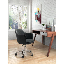 Load image into Gallery viewer, Modern Office Chair in Distressed Black Leatherette