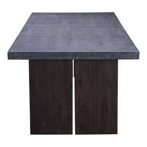 "95"" Cement & Natural Wood Conference Table"