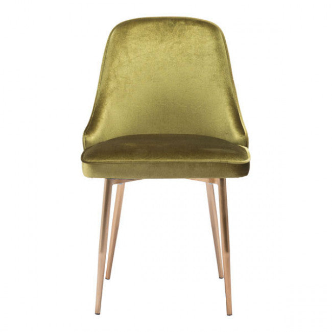 Guest or Conference Chair in a Plush Green Velvet