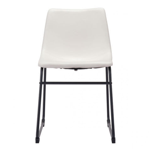 White Guest or Conference Chair in Distressed Leatherette