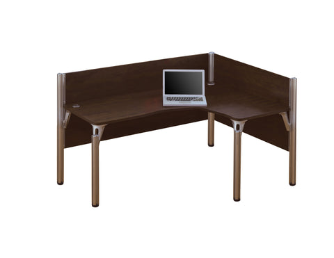 Pro-Biz Premium L-shaped Desk with Right Return in Chocolate
