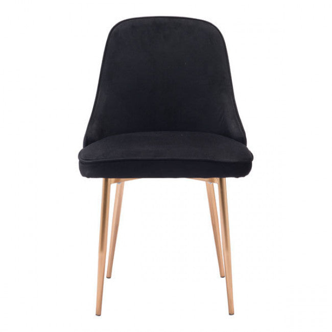 Guest or Conference Chair in a Plush Black Velvet