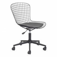 Load image into Gallery viewer, Stylish Office Chair w/ Black Cushion and Matte Black Steel