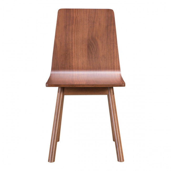 Elegant Armless Guest or Conference Chair in Walnut (Set of 2)