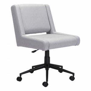 Armless Light Grey Office Chair
