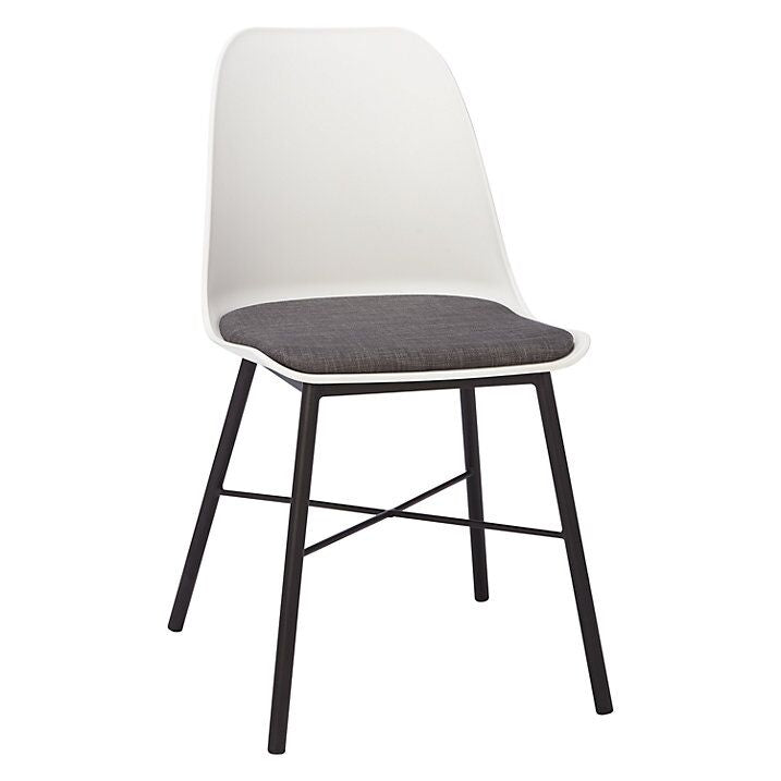Convenient White and Grey Guest or Conference Chair