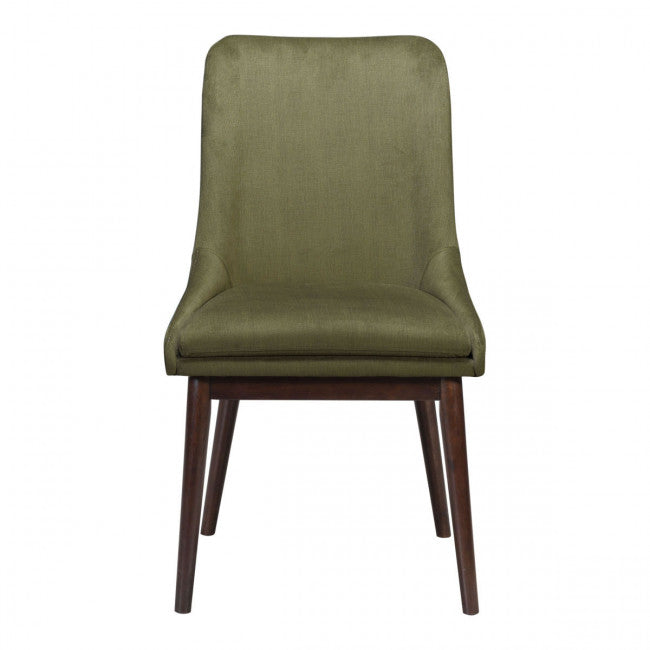 Guest or Conference Chair in Green Linen (Set of 2)