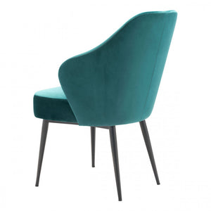 Gorgeous Guest or Conference Chair in Plush Green Velvet