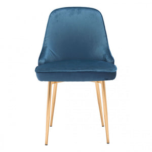 Gorgeous Guest or Conference Chair in Luxurious Blue Velvet