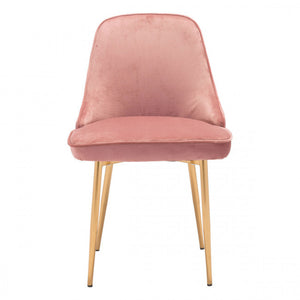 Gorgeous Guest or Conference Chair in Luxurious Pink Velvet