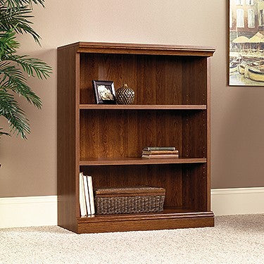 "44"" Tall 3 Shelf Planked Cherry Bookcase"