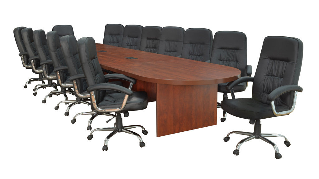 Premium Conference Table in Cherry or Mahogany (12', 18', or 24' Length)