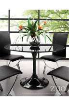 Load image into Gallery viewer, Black Lacquer Circular Meeting Table with Tulip-Shaped Base