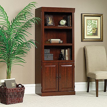 "71"" Bookcase with Enclosed Cabinet in Classic Cherry"