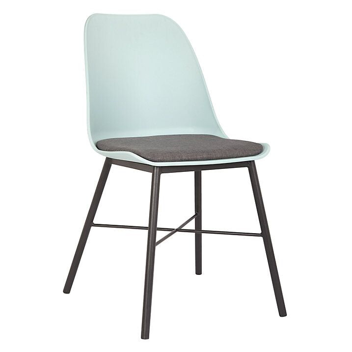 Convenient Eggshell Blue and Grey Guest or Conference Chair