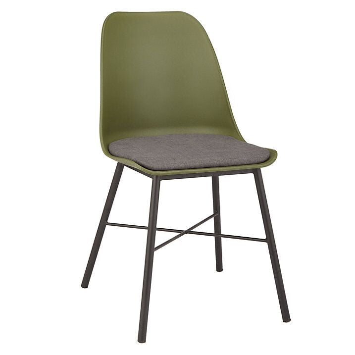 Convenient Olive Green and Grey Guest or Conference Chair