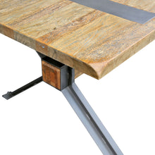 "Load image into Gallery viewer, 87"" Executive Office Desk or Conference Table of Mango Wood & Steel"