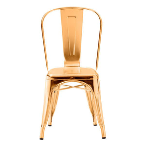 Stunning Guest or Conference Chair in Shining Gold (Set of 2)