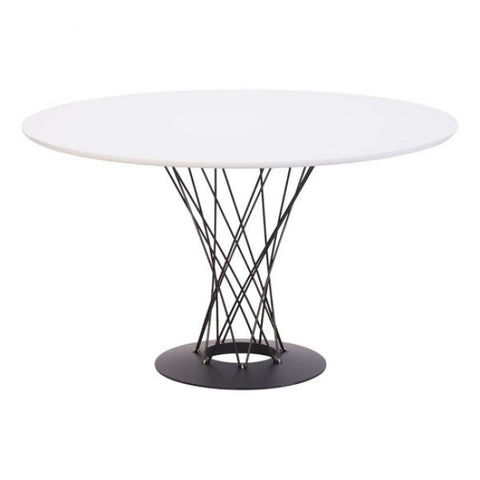Stunning White Round Meeting Table w/ a Twist