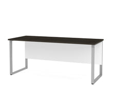 "Load image into Gallery viewer, 71"" Modern Executive Desk with Privacy Panel in Deep Gray & White"