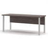 "71"" Modern Executive Office Desk with Metal Legs in Bark Gray"