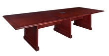 Load image into Gallery viewer, 12 or 16 Foot Rectangular Conference Table in Mahogany Finish